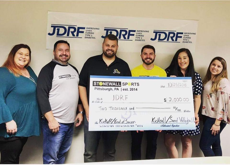 Stonewall JDRF Donation